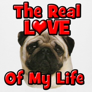 Pug, The Real Love Of My Life Hoodies - Men's Premium Tank