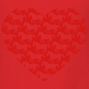 I love ponies i love horse riding I heart pattern Bags & backpacks - Men's T-Shirt