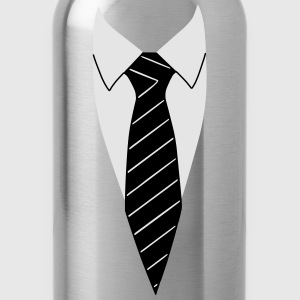 Suit / Necktie T-Shirts - Water Bottle