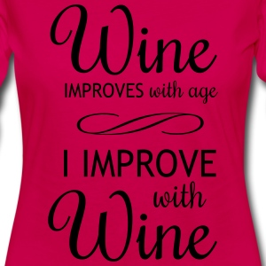 Wine Improves with Age Women's T-Shirts - Women's Premium Long Sleeve T-Shirt