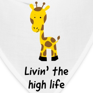 Giraffe. Livin the high life Baby & Toddler Shirts - Bandana