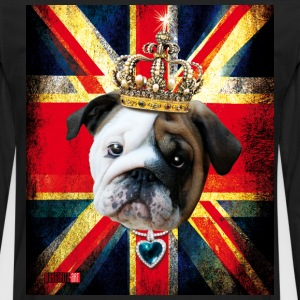50 English Bulldog Baby Bully Union Jack UK Flag I - Men's Premium Long Sleeve T-Shirt
