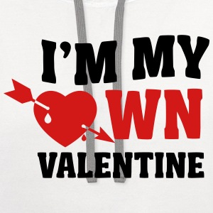 I'm my own valentin T-Shirts - Contrast Hoodie