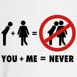 You + Me = never Women's T-Shirts - Men's Long Sleeve T-Shirt