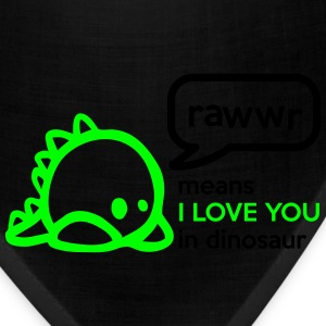 RAWwR - means I love you in dinosaur Women's T-Shirts - Bandana
