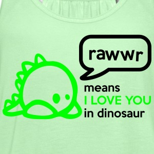 RAWwR - means I love you in dinosaur Women's T-Shirts - Women's Flowy Tank Top by Bella