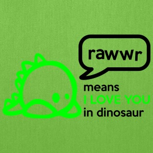 RAWwR - means I love you in dinosaur Women's T-Shirts - Tote Bag