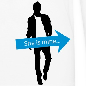 She is mine T-Shirts - Men's Premium Long Sleeve T-Shirt