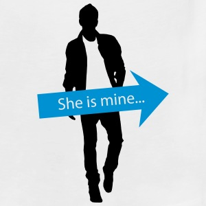 She is mine T-Shirts - Men's Premium Tank