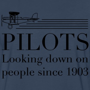Pilots look down on people T-Shirts - Men's Premium Long Sleeve T-Shirt