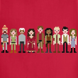 Firefly Cast Cross Stitch T-Shirts - Adjustable Apron