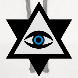 Eye of God  2c Knights Templar triangle Hipster Ge - Contrast Hoodie