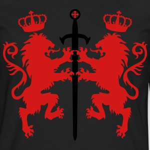 Lions Sword Crusaders Crown King heraldic animal - Men's Premium Long Sleeve T-Shirt