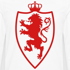Lion Shield Crusaders Crown King heraldic animal - Men's Premium Long Sleeve T-Shirt