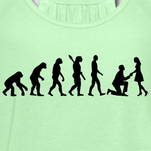 Evolution Wedding Proposal Kids' Shirts - Women's Flowy Tank Top by Bella