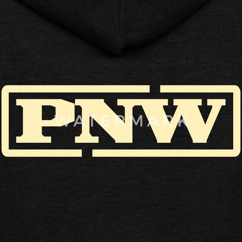 PNW - Pacific Northwest Zip Hoodies & Jackets - Unisex Fleece Zip Hoodie by American Apparel