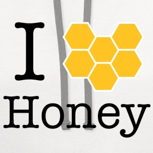 I Love Honey - Contrast Hoodie