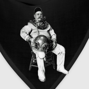 Vintage Diver with Diving Helmet and Pipe - Bandana