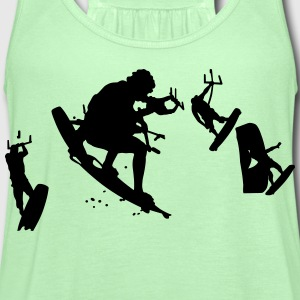 kitesurfing stunt T-Shirts - Women's Flowy Tank Top by Bella