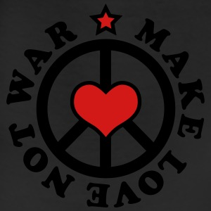Make love not war heart star Peace valentine happi - Leggings