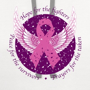 Hope For Fighters Women's T-Shirts - Contrast Hoodie