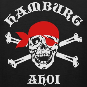 HAMBURG AHOI Skull City Pirate Blood T-Shirt - Men's Premium Tank