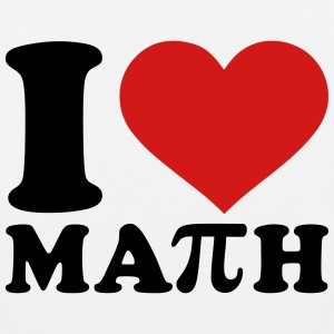 I love Math Kids' Shirts - Men's Premium Tank