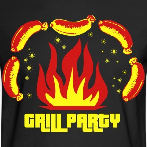 Grill Party Master Barbecue BBQ grilled delicious  - Men's Long Sleeve T-Shirt
