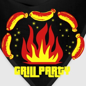 Grill Party Barbecue BBQ grilled Men's T-Shirt - Bandana