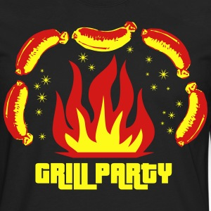 Grill Party Master Barbecue BBQ grilled delicious  - Men's Premium Long Sleeve T-Shirt