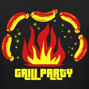 Grill Party Master Barbecue BBQ grilled delicious  - Men's Premium Tank