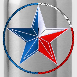 Red White & Blue Texas Lone Star - Water Bottle