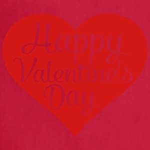 happy valentines day heart Women's T-Shirts - Adjustable Apron