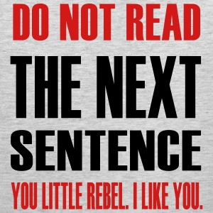 do_not_read_the_next_sentence Long Sleeve Shirts - Men's Premium Tank