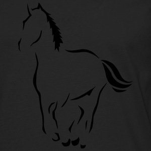 Outline Horse Art  Kids' Shirts - Men's Premium Long Sleeve T-Shirt