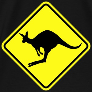 Kangaroo road sign australia Bags & backpacks - Men's Premium T-Shirt