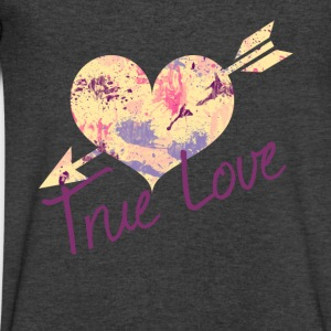 True love - Men's V-Neck T-Shirt by Canvas