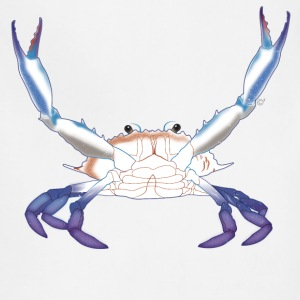 Maryland Blue Crab with arms/claws extended - Adjustable Apron