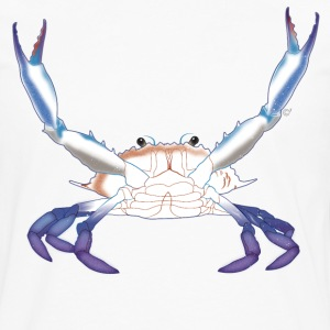 Maryland Blue Crab with arms/claws extended - Men's Premium Long Sleeve T-Shirt