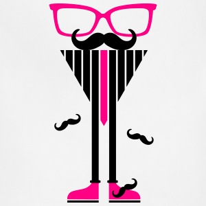 Hipster Sunglasses triangle Face Mustache Beard De - Adjustable Apron
