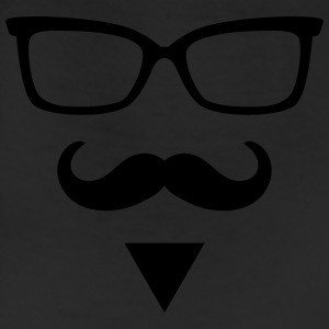 Hipster Sunglasses triangle Face Mustache Beard De - Leggings