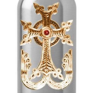 Cross Gold golden God Jesus Antique Christ men's T - Water Bottle