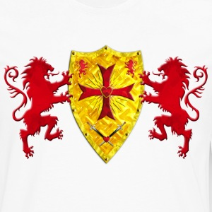 Knights Templars Crusaders Lions weapon shield men - Men's Premium Long Sleeve T-Shirt