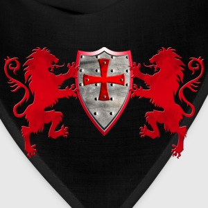 Knights Templars Crusaders Lions weapon shield men - Bandana
