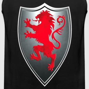 Knights Templars Crusaders Lions weapon shield Tee - Men's Premium Tank