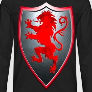 Knights Templars Crusaders Lions weapon shield Tee - Men's Premium Long Sleeve T-Shirt