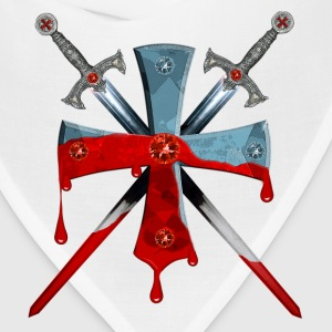 Knights Templars Crusaders Sword Cross weapon Tee - Bandana