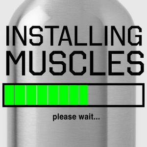 Installing Muscles. Please wait T-Shirts - Water Bottle