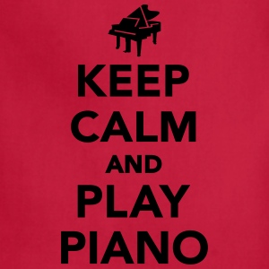 Keep calm and play piano Women's T-Shirts - Adjustable Apron