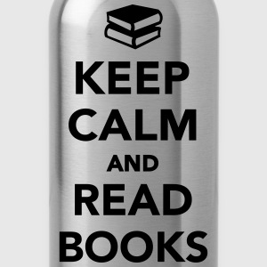 Keep calm and read books Kids' Shirts - Water Bottle
